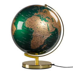 GLOBE LIGHT GREEN BRASS - 12 INCH