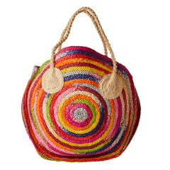 MULTICOLOR RAFFIA SHOPPER