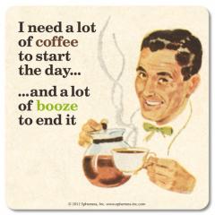 RETRO COASTER NEED A LOT OF COFFEE