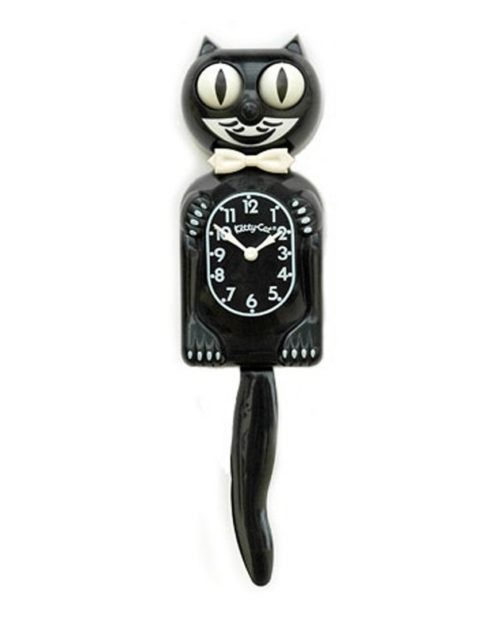 KITTY CAT KLOCK BLACK