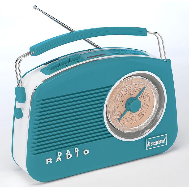 RETRO RADIO DAB+ BLAUW