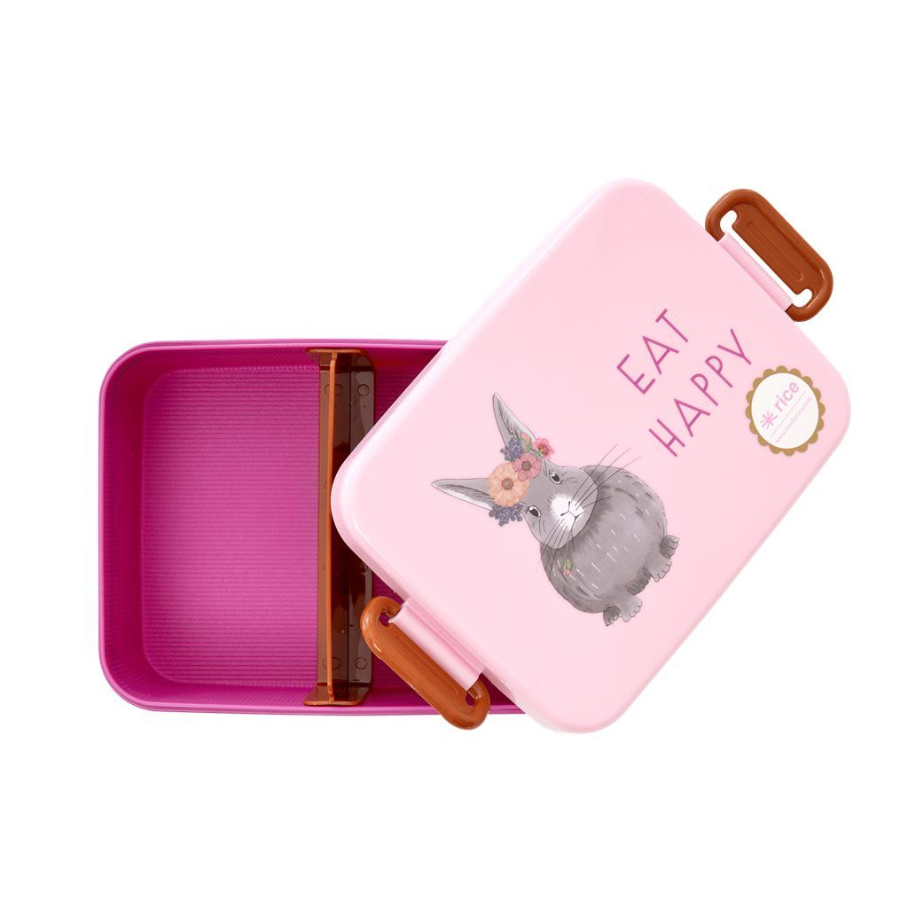 LUNCHBOX EAT HAPPY BUNNY