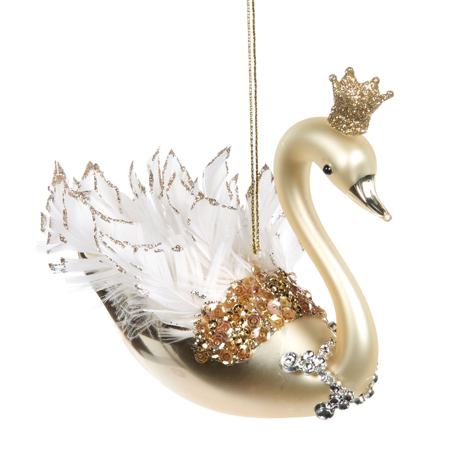KERSTORNAMENT ROYAL SWAN