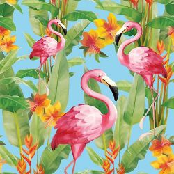 SERVIETTEN FLAMINGO AQUA