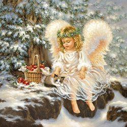 SERVIETTEN LITTLE ANGEL