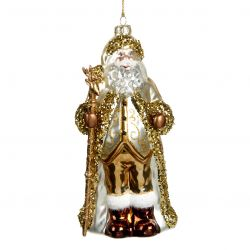 KERSTORNAMENT GOLDEN SANTA