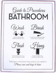 TEKSTBORD  BATHROOM PROCEDURES