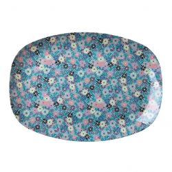 MELAMINE BORD SMALL FLOWER BLUE