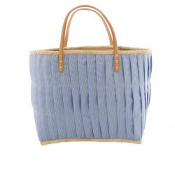 RAFFIA SHOPPER BLUE