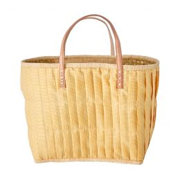 RAFFIA SHOPPER YELLOW