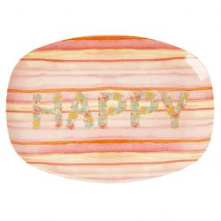 MELAMINE BORD HAPPY PINK