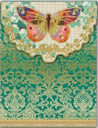 POCKET NOTEBOOK BUTTERFLY EMERALD