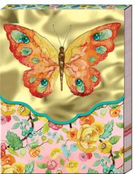 POCKET NOTEBOOK BUTTERFLY GOLD