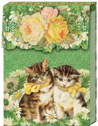 POCKET NOTEBOOK CATS IN GARDEN